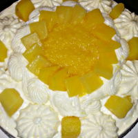 My 2Nd Birthday Cake For Today Pineapple Cake for my birthday!
