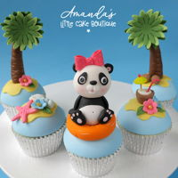 Panda Vacation Cupcakes Based on an illustration by Nataylia Dolotko.