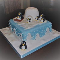 Penguins A fondant covered rich fruit cake