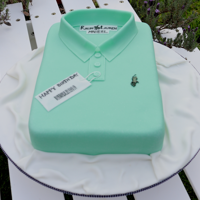 Polo Shirt Cake How to make a POLO shirt cake.