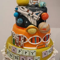 Science Themed Birthday Cake Loved making the brain :-)