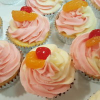 Tequila Sunrise Cupcakes Tequila Sunrise Cupcakes. Yellow cake with orange, triple sec, and tequila flavors with a buttercream that is half grenadine and half...