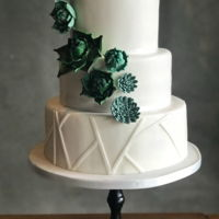 Weddingcake With Succulents Weddingcake for an industrial wedding with a lot of succulents