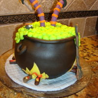 Witch Cauldron Halloween Cake just for fun
