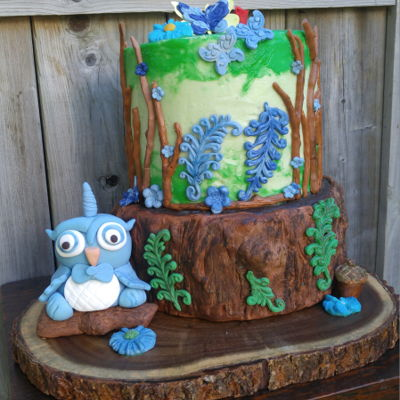 Woodland Birthday Cake