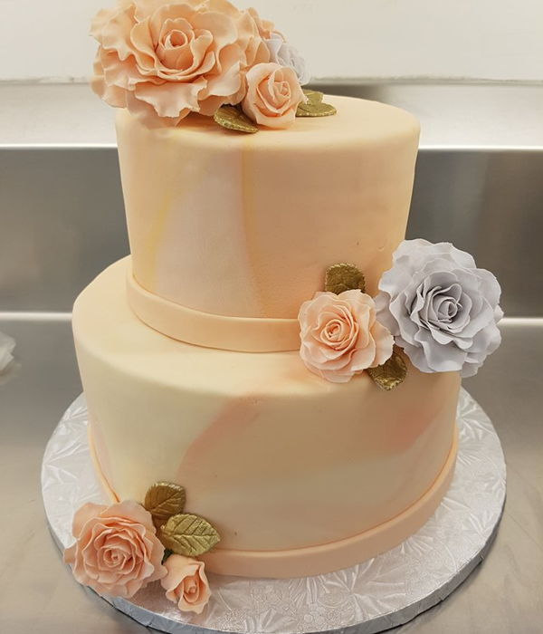 Lemon Raspberry Wedding Cake