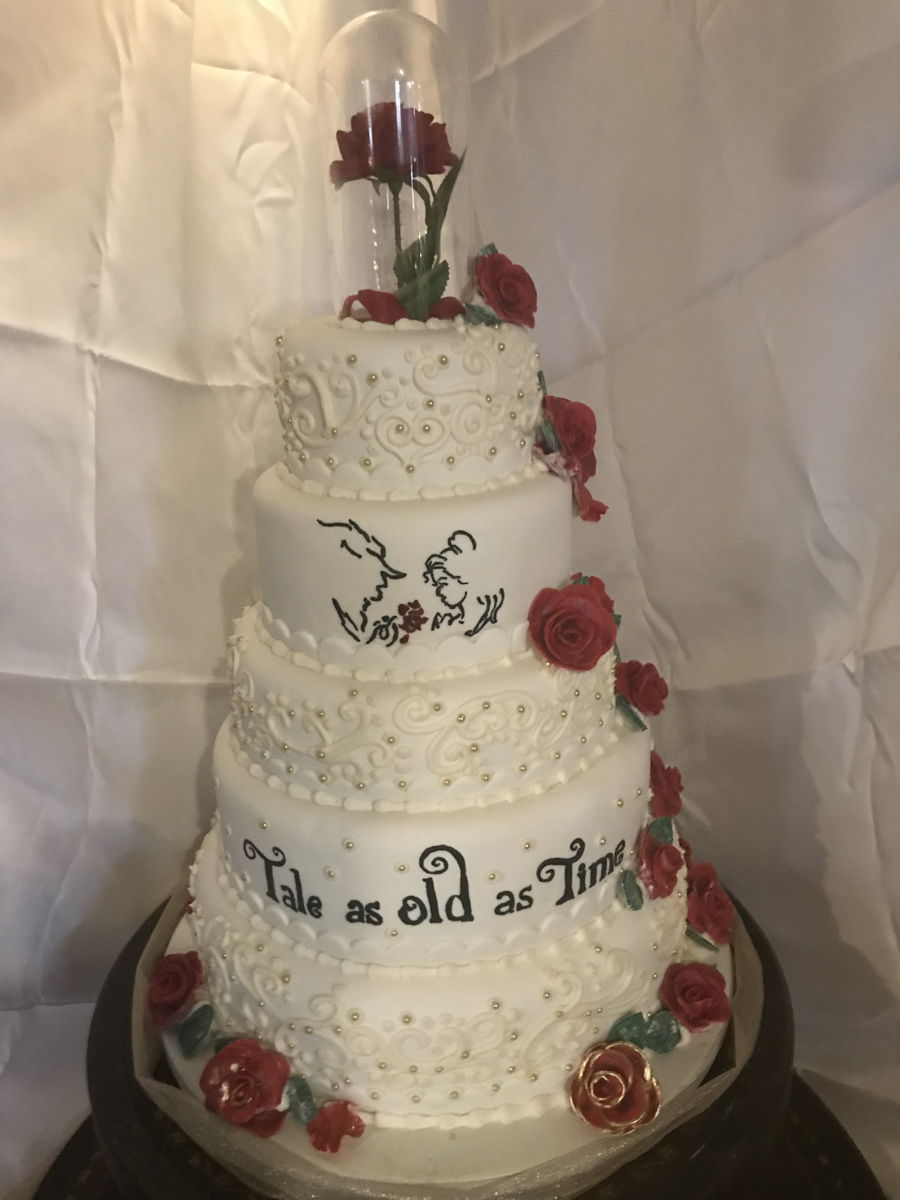 beauty and the beast wedding cake and the beast wedding cakecentral 1623