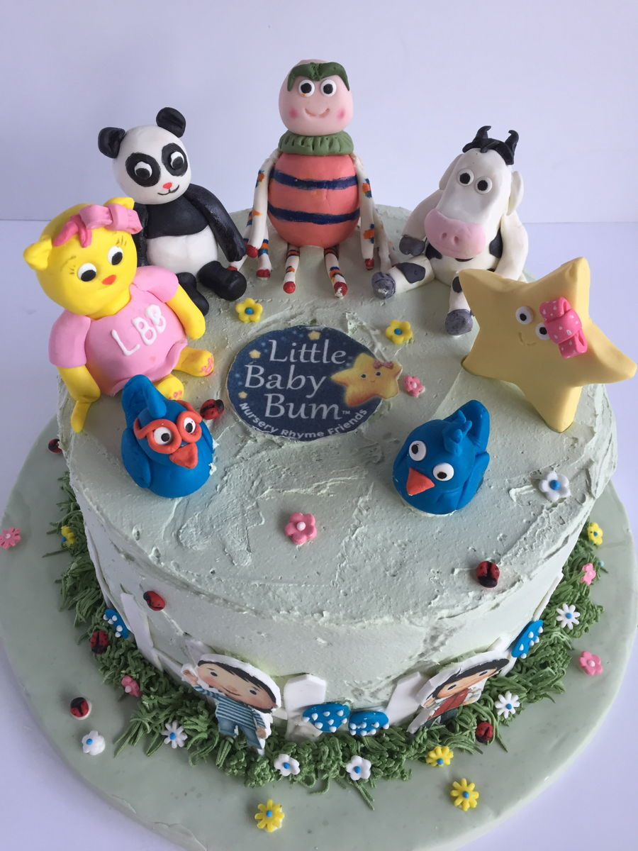 Amazing Little Baby Bum 1St Birthday Cake Cakecentral Com Funny Birthday Cards Online Alyptdamsfinfo