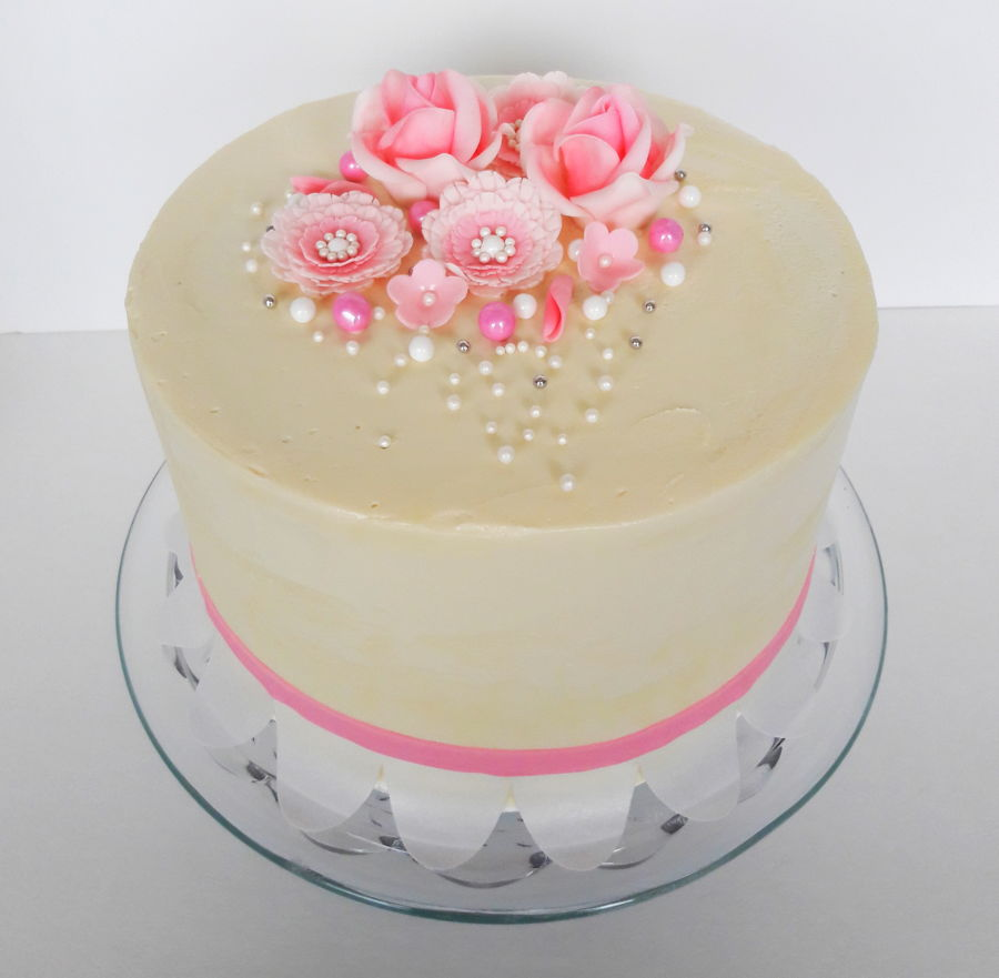Pale Pink Flowers Cakecentral