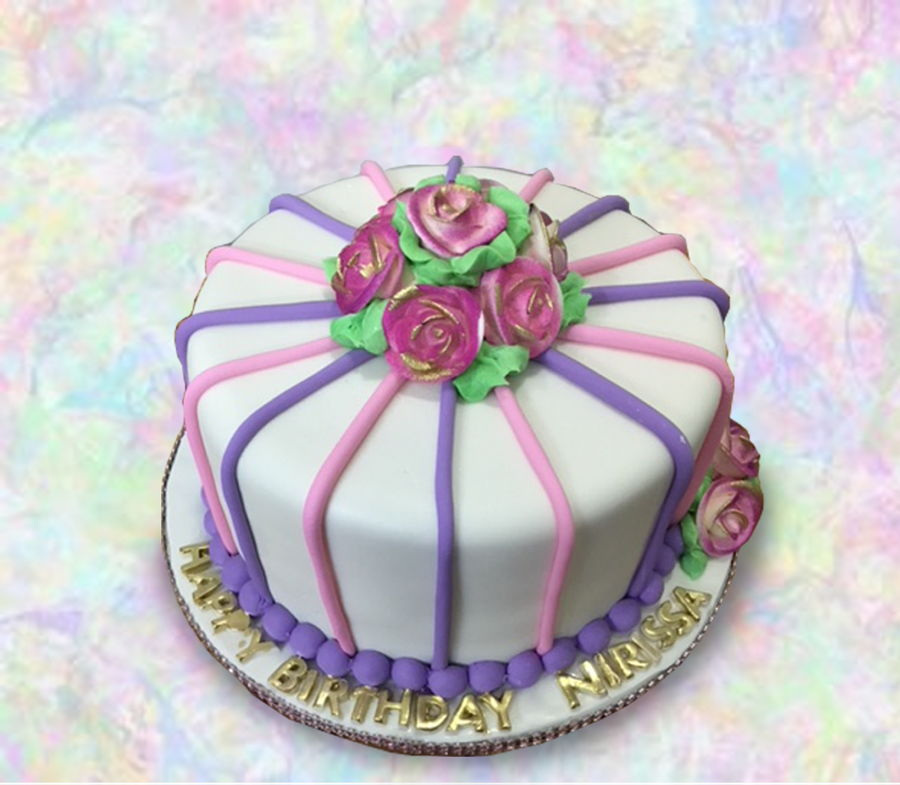 Pink & Purple Stripes on Cake Central