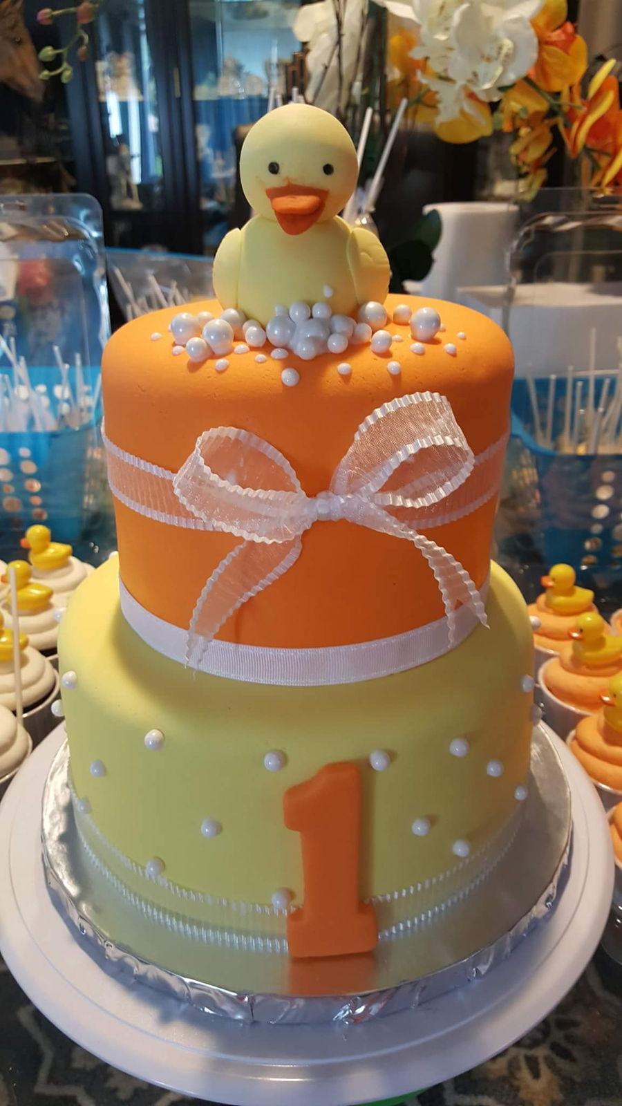Excellent Rubber Duckie 1St Birthday Cake Cakecentral Com Funny Birthday Cards Online Inifodamsfinfo