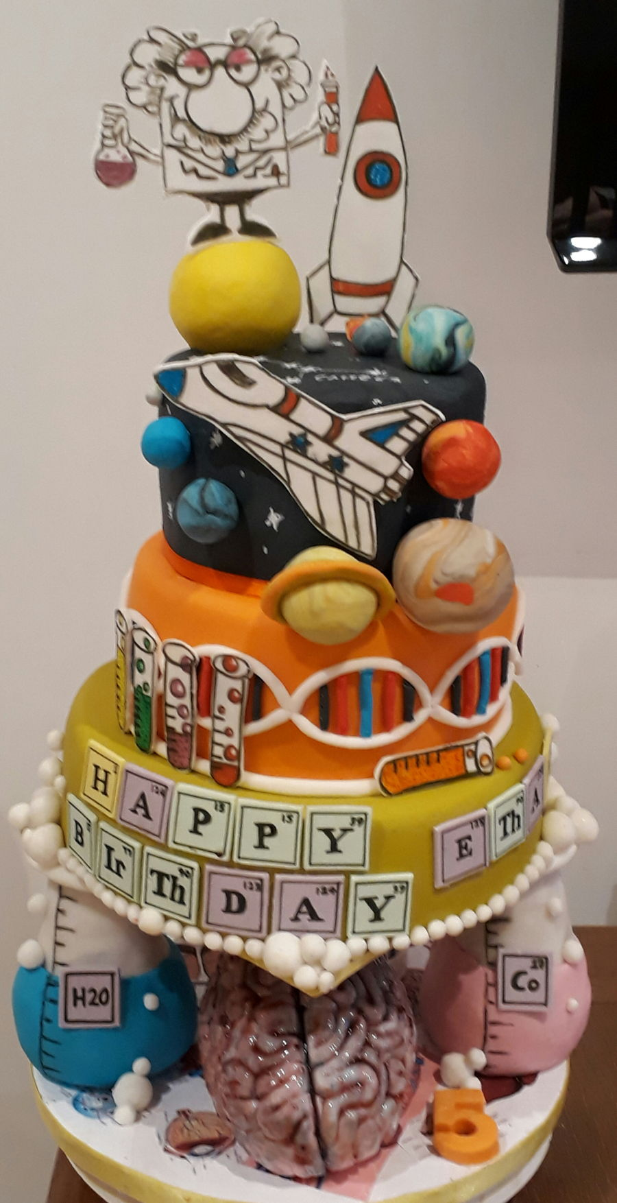 Remarkable Science Themed Birthday Cake Cakecentral Com Funny Birthday Cards Online Elaedamsfinfo