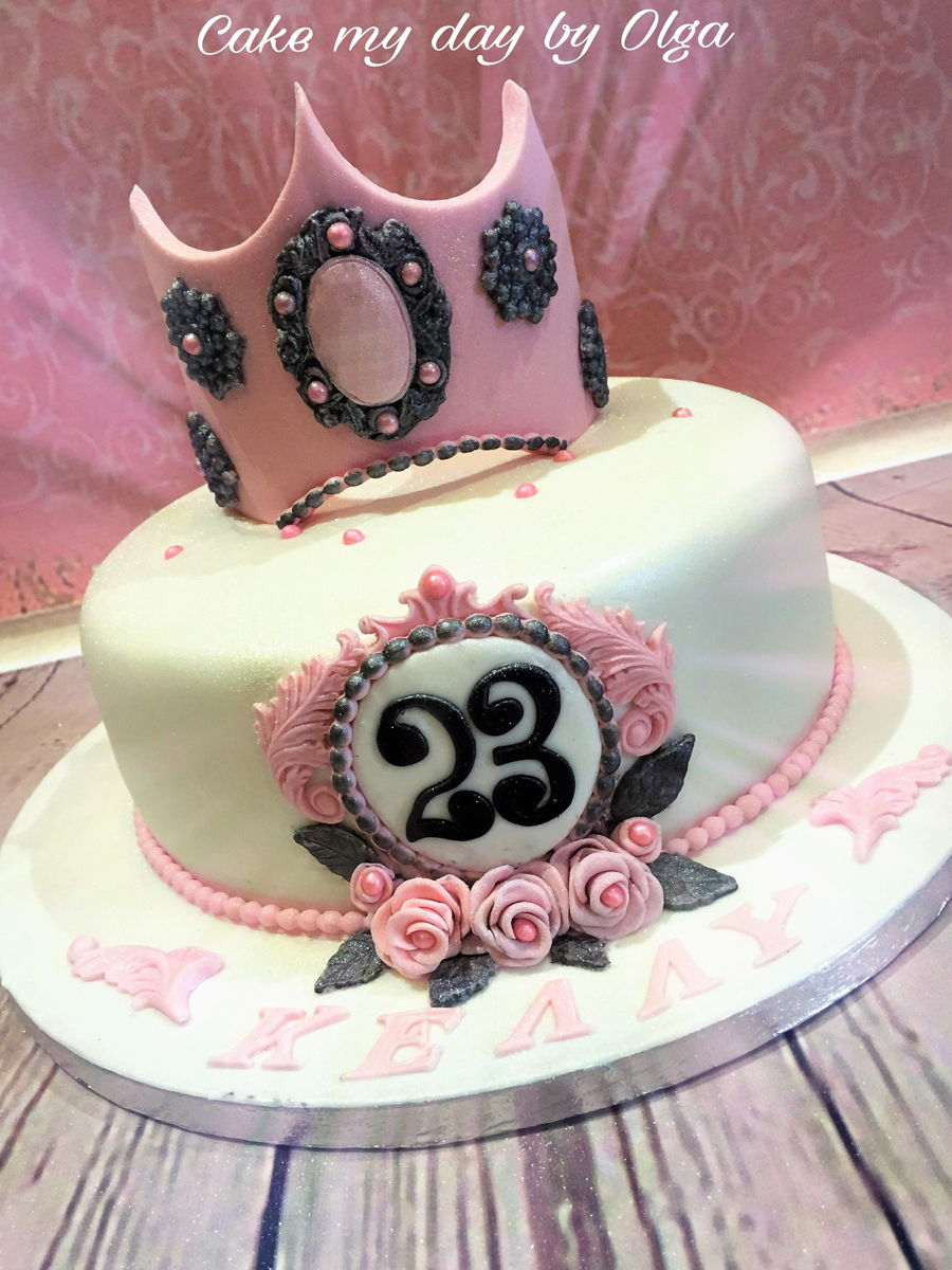 Tiara Birthday Cake on Cake Central