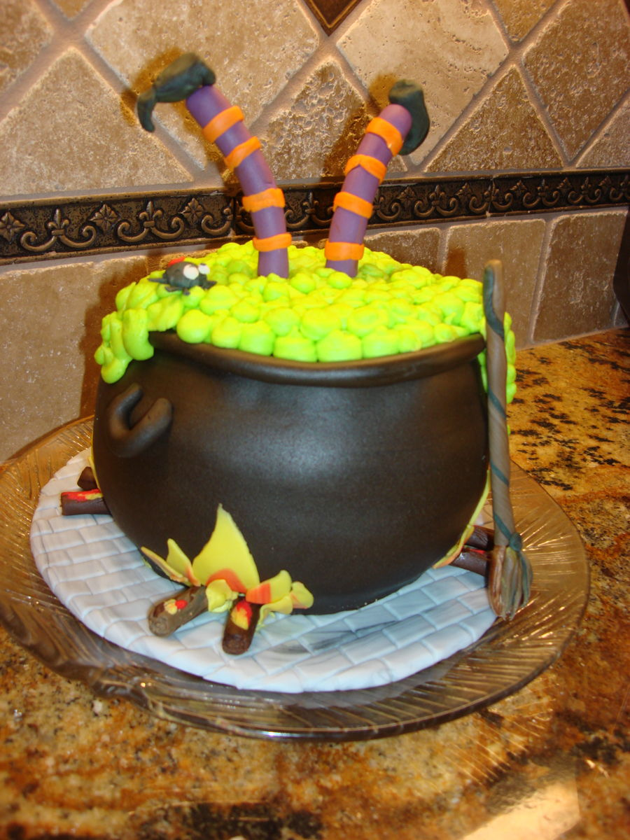 Witch Cauldron Halloween Cake on Cake Central