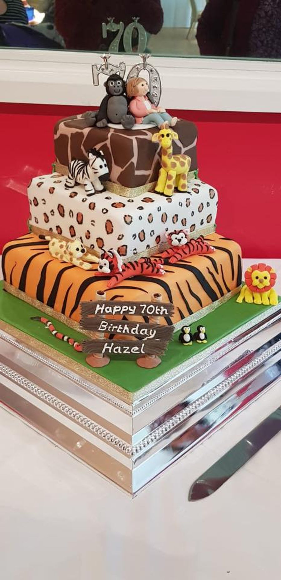 Zoo Themed Birthday Cake On Central