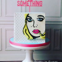 40 Something @pretty_in_sugar 40 something #popartcake #fortysomething #prettyinsugar #prettyinsugarcake Cake topper by @capoladesigns