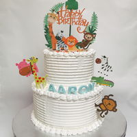 Animal Themed Birthday Cake Buttercream