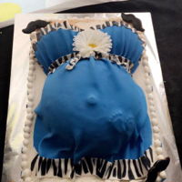 Baby Belly baby shower cake! its a boy!!!