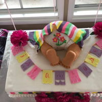 Baby Shower cute little baby bottom!!! Mexican themed babyshower!!! Marble cake with churro filling!!!