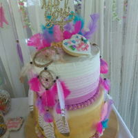 Baby Shower Cake fun babyshower cake!!! Bohemian themed Cake!!!