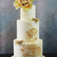 Bees Weddingcake Weddingcake this sugarflowers