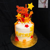 Birthday Explosion Vanilla & Chocolate Cake American Buttercream Cake is covered and decorated in Fondant