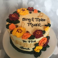 Buttercream Music Cake Buttercream flowers and cake lace music decorations