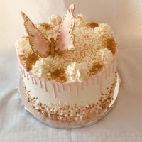 Butterfly Drip and buttercream