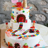 Candy Land Cake Candy land Cake with tower.