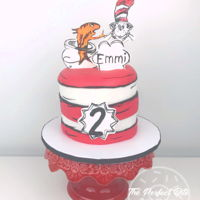Cat In The Hat Cake I really wish my lighting was better because I was so happy with how the details turned out for this cake. Oh well! Better than nothing lol...