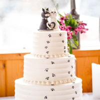 Cat Lovers Wedding Cake the cake topper cats are made of Fondant, chocolate and vanilla cakes, frosted in Pastry Pride, very simple but sweet Idea especially if...