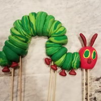 Caterpillar Cake Topper Fondant cake topper for a birthday this weekend!