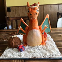 Charizard Cake My middle son's 4th birthday cake!