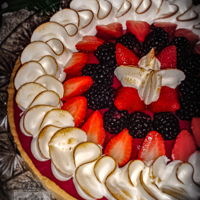 Chocolate - Berries Tart Sure, you can tell I love to work with chocolate and berries! This was a tart for my daughter's birthday. Coconut lemon pastry tart,...