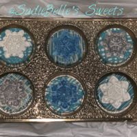 Chocolate Covered Oreos Winter Wonderland themed baby shower