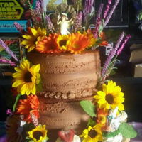 Chocolate Naked Cake My first time trying a naked cake....