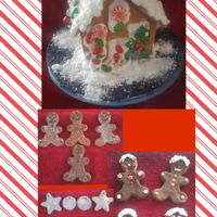 Christmas Fun Gingerbread house decorated by my 5 and 2 1/2 yr old grandson's. Cinnamon dough Christmas ornaments made for my children and...