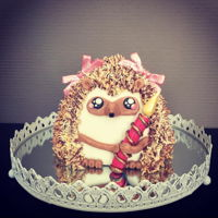 Cute Hedgehog Cake! Cute hedgehog cake!