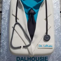 Doctor Cake White Almond Sour Cream cake with vanilla buttercream icing