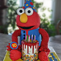 Elmo - Icing Smiles Cake Elmo was made for the 10th birthday of a very special Icing Smiles child. It is lemon funfetti, filled and frosted with lemon buttercream,...