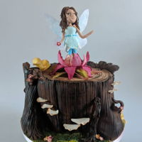 Fairy Cake A sugar fairy (figurines are always a huge challenge for me!!) emerges from a blossom and looks over her kingdom. I loved making these...