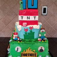 Fortnite Birthday Fortnite, Minecraft, and mario