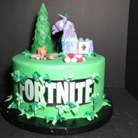 Fortnite Cake Smooth buttercream, edible print, fondant accents