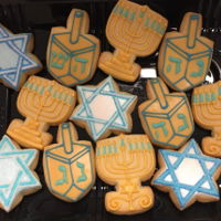 Hanukkah Cookies Hanukkah cookies. Just sugar cookies