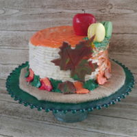 Happy Thanksgiving Just a quick carrot cake for our thanksgiving dinner dessert. All buttercream cake. With a large fall multicoloured maple leaf and small...