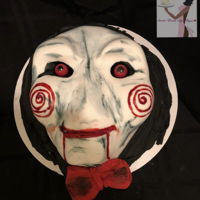 Jigsaw Done by Yours Truly Red Velvet with Classic Buttercream deco fondant eyes jawbreakers...lol
