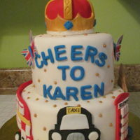 Karen's 60Th Birthday A friend has that UK flag on her tire cover which was the inspiration for this cake.