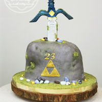 Legend Of Zelda Cake I made this for my brother -the biggest gamer I know!