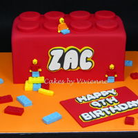 Lego Cake Chocolate mud cake with all fondant decorations