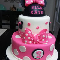 Mini Mouse Cake Fondant and gumpaste
